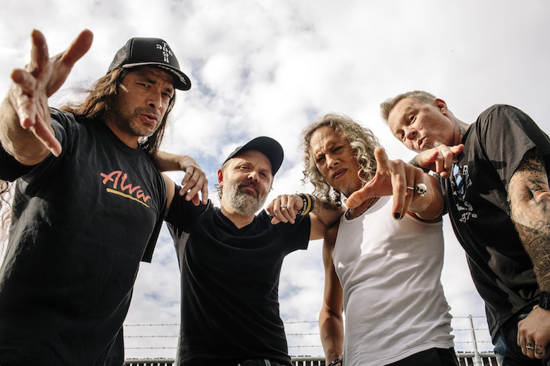 (From left) Robert Trujillo, Lars Ulrich, Kirck Hammett and James Hetfield, of the hard-rock band Metallica, at their headquarters in San Rafael, California, November 11, 2016. — Picture by Brian Flaherty/The New York Times