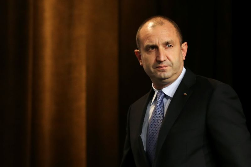 Bulgarian President Rumen Radev said that he would nonetheless formally task ITN this afternoon with forming a government. — Reuters pic