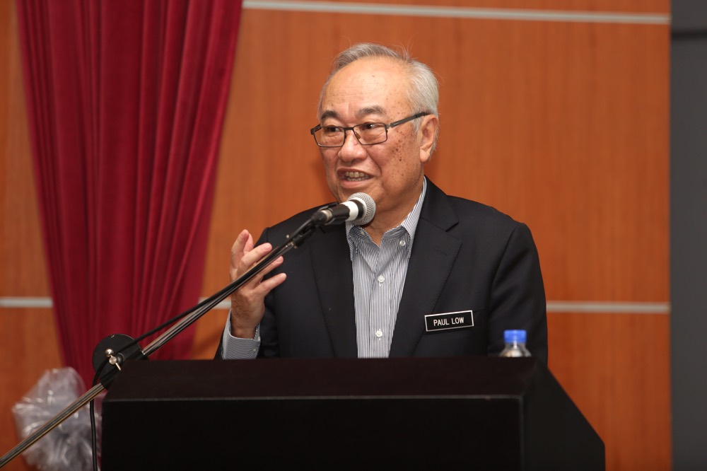 Minister in the Prime Minister's Department Datuk Paul Low Seng Kuan said the government would take action on two key fronts — enforcement and prevention. ― Picture by Choo Choy May