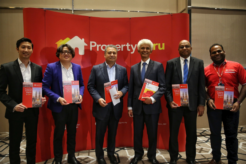(From left) Gary Chua, Chris Tan, Datuk Seri Fateh Iskandar Mohamed Mansor, Datuk Charon Mokhzani, Prem Kumar and Sheldon Fernandez at PropertyGuru's 2017 Property Outlook Forum in Kuala Lumpur December 1, 2016. — Picture by Saw Siow Feng
