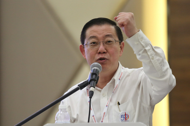 Penang Chief Minister Lim Guan Eng boasted that the state is the only one in history that has not imposed water rationing, attributing it to his administration's three-pronged strategy. — Picture by Saw Siow Feng