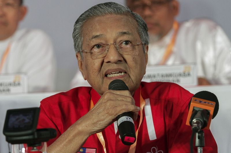 Tun Dr Mahathir Mohamad says he does not regret implementing the Universities and University Colleges Act 1971. — Picture by Yusof Mat Isa