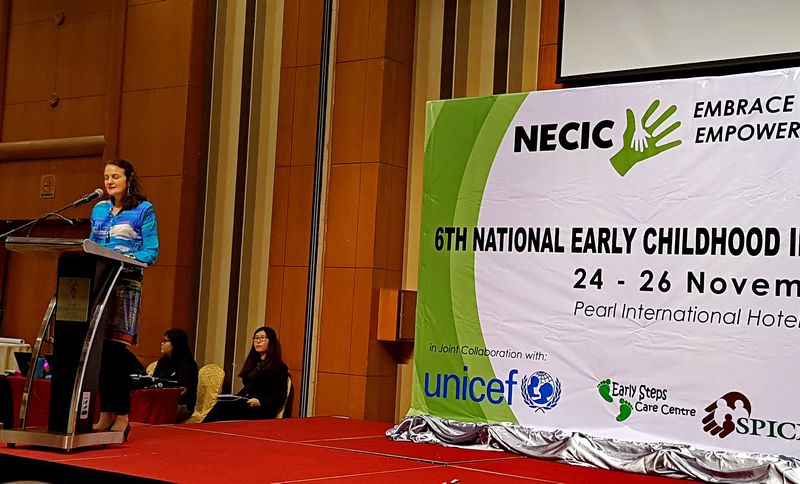 Marianne Clark-Hattingh, Unicef Representative for Malaysia opening the conference.