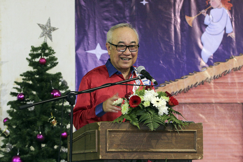 Minister in the Prime Minister's Department, Datuk Paul Low, is pictured at the Christmas Hi-Tea at Rumah Uskup Agung in Kuala Lumpur December 25, 2016. — Picture by Yusof Mat Isa