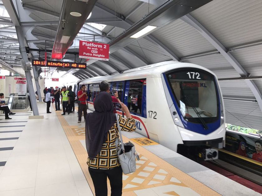 All Rapid KL train users will be required to follow certain passenger movement control measures beginning tomorrow to ensure social distancing and avoiding congestion at platforms and on trains. — Picture courtesy of Prasarana Malaysia Bhd