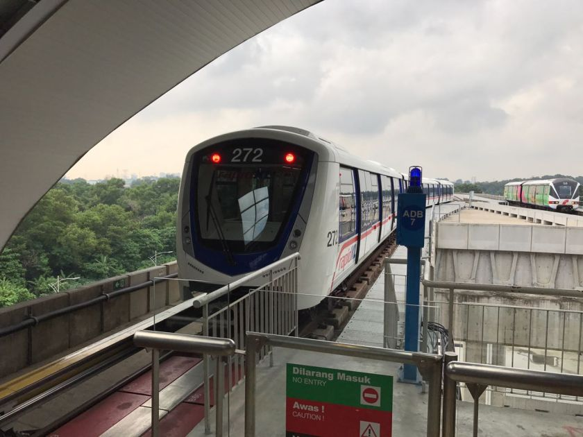 In a statement today, Rapid Rail said its trains on all routes had been set for cleansing and sanitisation at peak times and after the operational hours each day. — Picture courtesy of Prasarana Malaysia Bhd