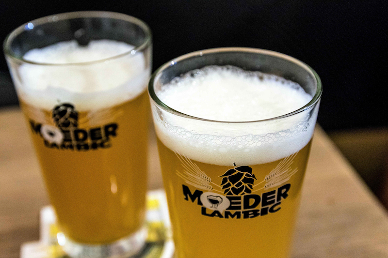 Beers at Moeder Lambic. Belgium's latest beers are becoming more bitter and lighter. — Picture courtesy of Jo Turner/Zester Daily via Reuters