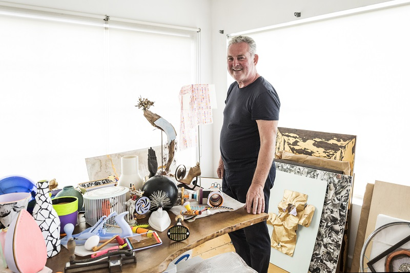 Tom Binns, once one of the fashion world's celebrated jewellers, at his home in Los Angeles, October 24, 2016. After a litigious end to a partnership, Binns these days now favours sculpture to jewellery and says he's barely making ends meet. ― Picture by Emily Berl/The New York Times