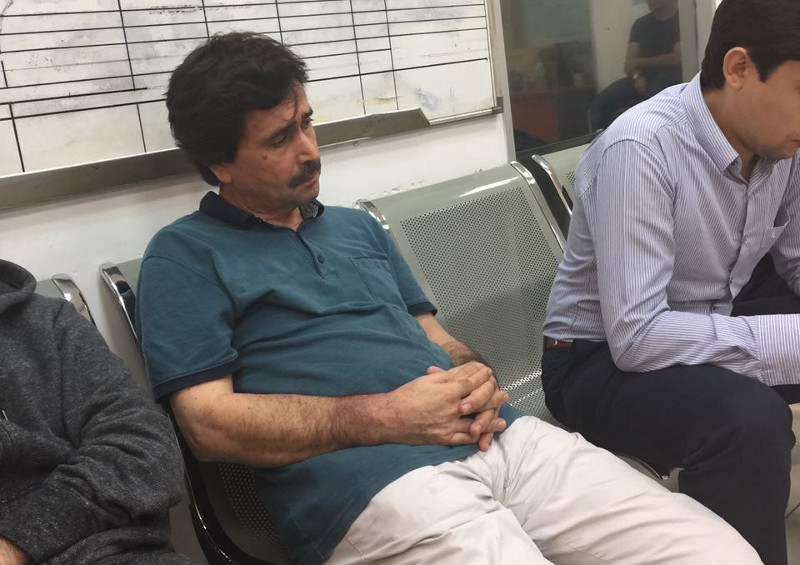 Turkish academic Ismet Ozcelik, 57, is shown here during his arrest on December 13, 2016 after Immigration officers seized his passport, despite him having a valid social visit pass for entry into Malaysia. — Picture courtesy of Suheyl Ozcelik
