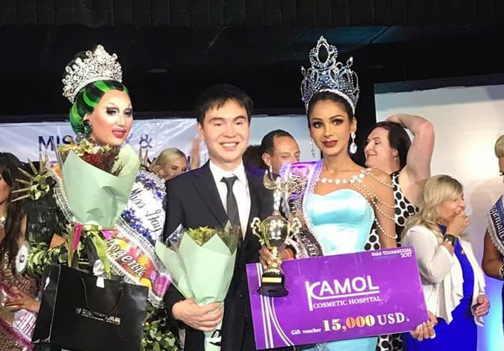 Laeticia Ravenna (right) won the Miss Transsexual Australia 2017 pageant at the finals in Yarraville, Victoria, Australia last night. — Picture courtesy of Nisha Ayub