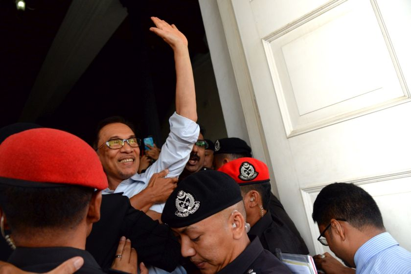 Anwar said his lawsuit to undo the constitutional amendments from the Mahathir administration would restore the Malay Rulers' role of being a control mechanism to the government's authority. — Picture by KE Ooi