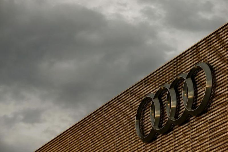 The logo of German car manufacturer Audi is seen at a building of a car dealer in Duebendorf. ― Reuters pic
