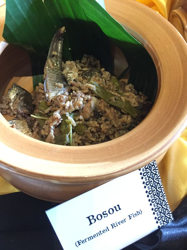 Bosou is eaten as a condiment to rice.