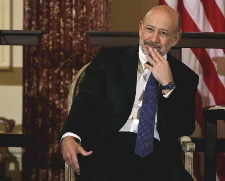 Goldman Sachs Chairman and CEO, Lloyd Blankfein, waits to speak at the 10,000 Women/State Department Entrepreneurship Program at the State Department in Washington, March 9, 2015. —  Reuters pic