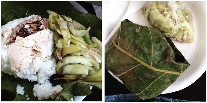 Linopot is a steamed fragrant rice meal wrapped with Doringin leaves.