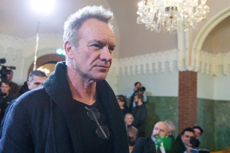 Singer Sting attends a news conference before the annual Nobel Peace Prize concert in Oslo December 11, 2016. — Reuters pic