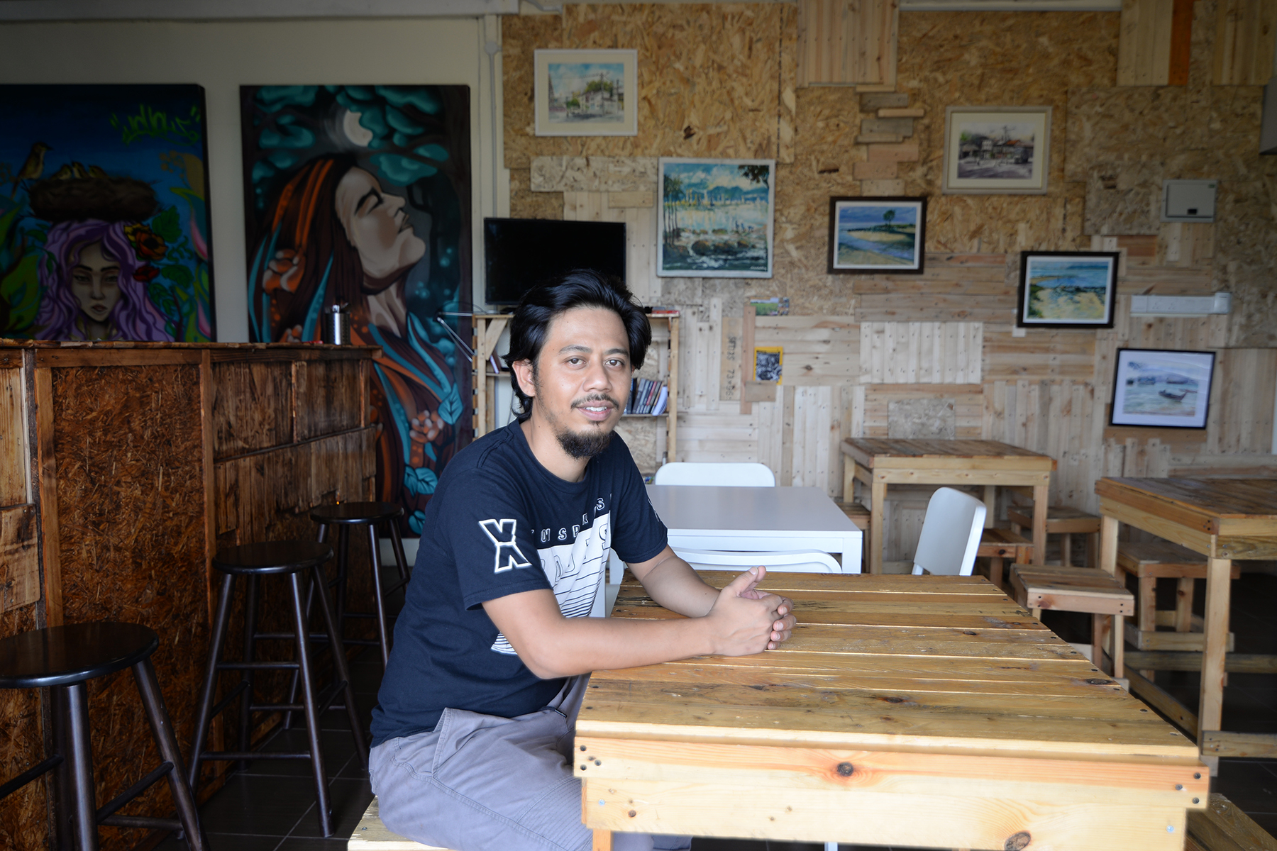 Hafidz Adnan at Lokalhouz, a new events and art space in Butterworth. — Picture by K.E. Ooi