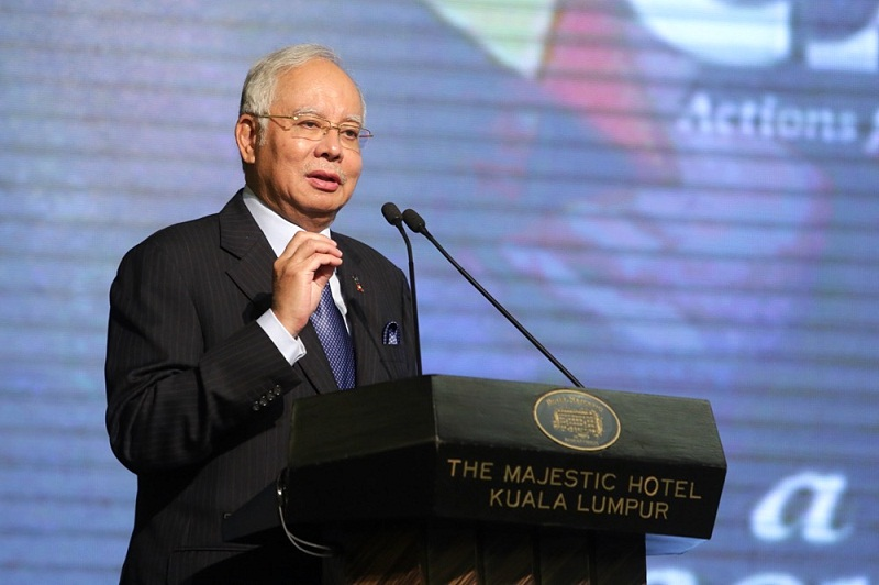 Prime Minister Datuk Seri Najib Razak speaks during the National Peace and Harmony banquet event in Kuala Lumpur February 20, 2017. — Picture by Choo Choy May