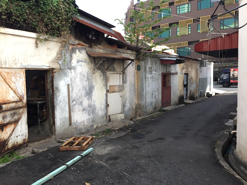The backlane of Jalan Magazine leading to Jalan Gurdwara will be turned into an access lane for the public, George Town February 20, 2017.