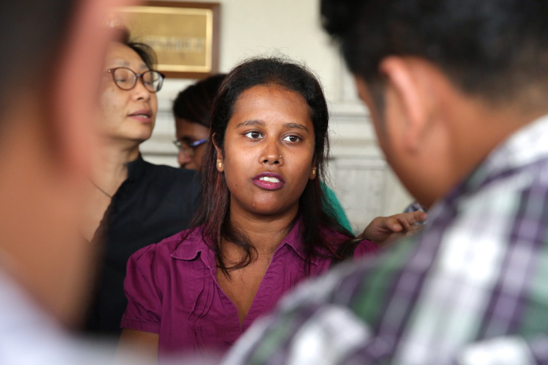 Activist Lena Hendry is seen outside the courtroom after the film censorship case decision in Kuala Lumpur February 21, 2017. ― Picture by Choo Choy May