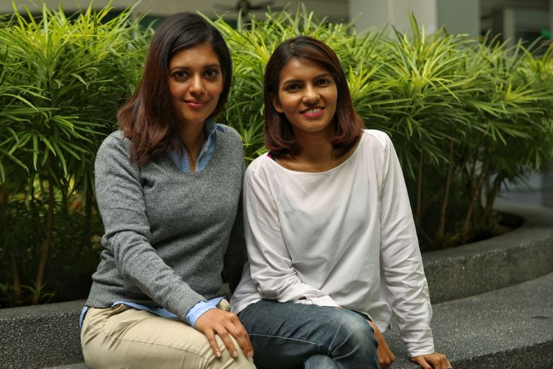 Actress Sangeeta Krishnasamy (left) rediscovered her love for teaching after playing Cheryl Ann Fernando (right) in 'Adiwiraku.' — Picture by Saw Siow Feng