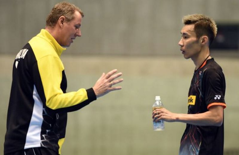 Feelings are still raw after the recent outbreak of hostilities between Lee Chong Wei (left) and coach Morten Frost — AFP pic