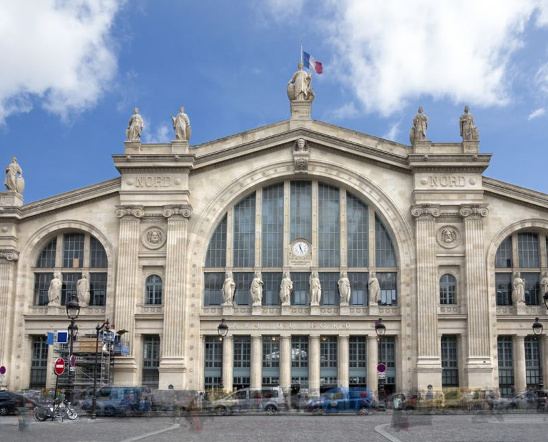 A knife-wielding man threatened police at Gare du Nord train station in Paris today. ― AFP pic