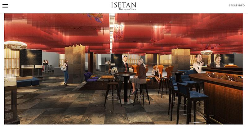 An artist's rendition of the Restaurant Floor as seen on Isetan The Store's official website.