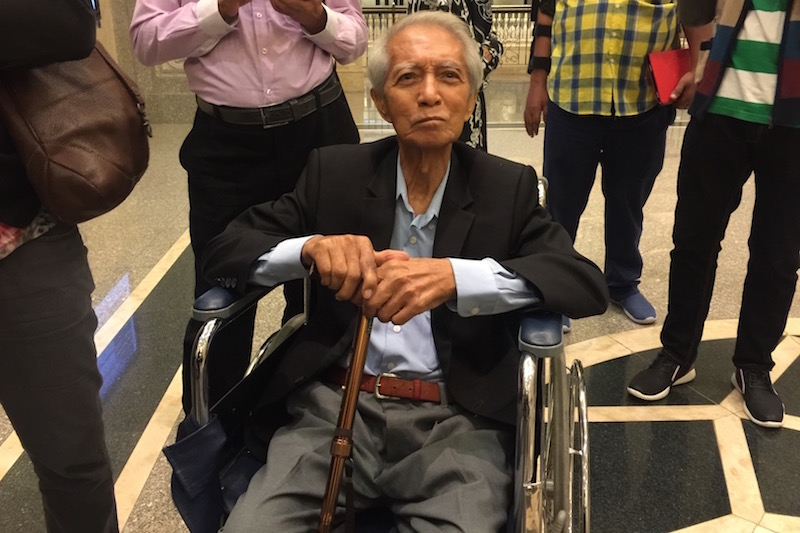 Muslim intellectual Kassim Ahmad will no longer face the two Shariah charges that are both punishable with a maximum RM3,000 fine or maximum two-year jail, or both. — Picture by Zurairi AR