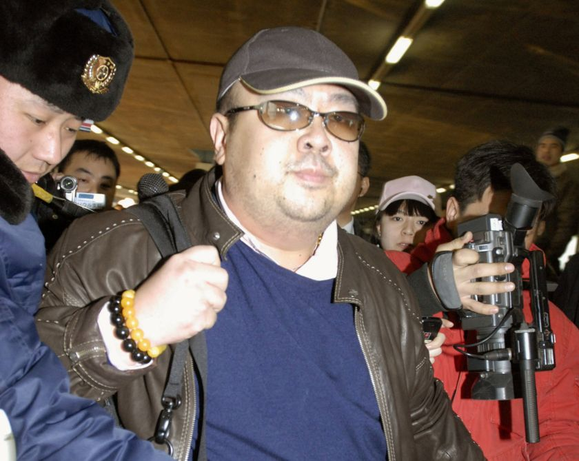 Kim Jong-nam arrives at Beijing airport in Beijing in this photo taken by Kyodo February 11, 2007. — Reuters pic