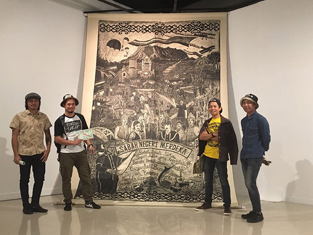 Pangrok Sulap's artwork which was shown at the 'Escape from the SEA' exhibition at Balai Seni Lukis Negara. A companion piece at APW, Bangsar was deemed too provocative and taken down. — Picture courtesy of Rizo Leong