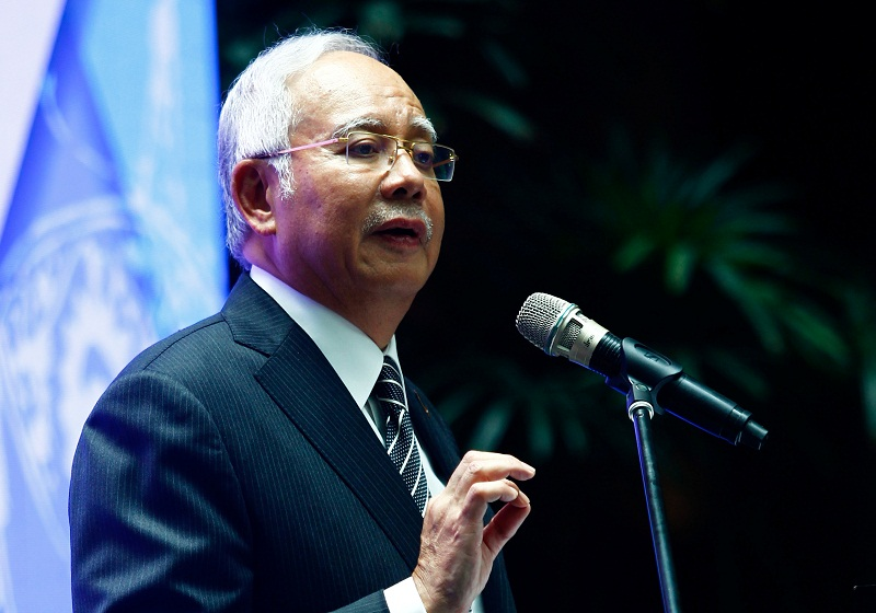Najib said the government plans to establish a special court to hear child sexual crime cases. — Reuters pic