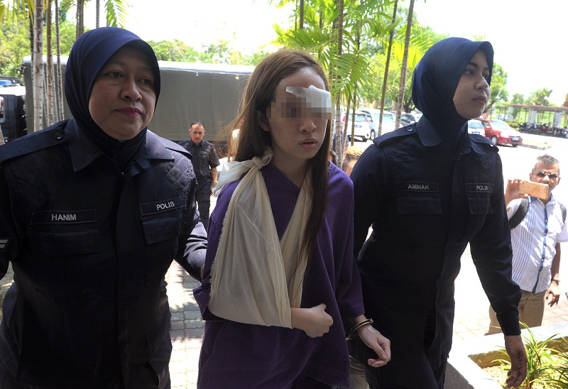 Teen driver Ng Pei Ven will be charged with driving under the influence of an intoxicant tomorrow. — Bernama pic