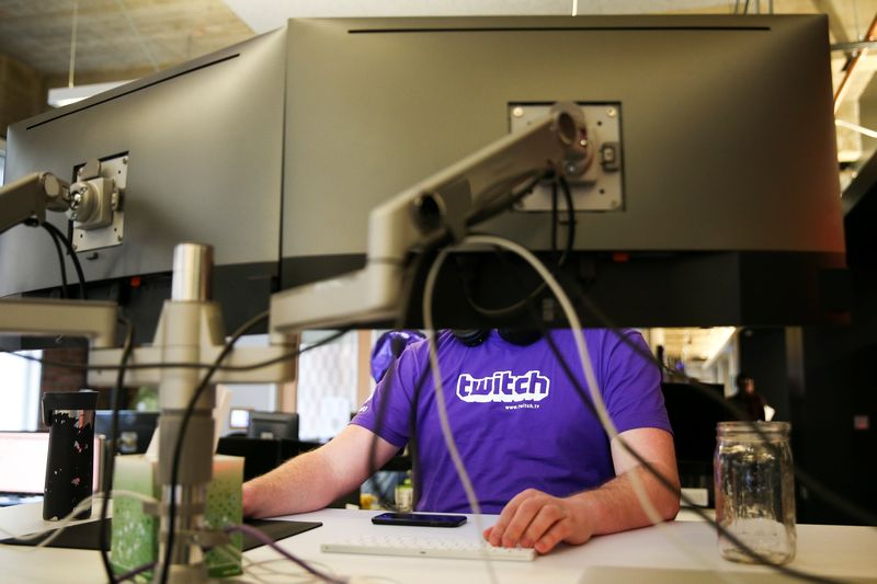 Twitch is Amazon-owned platform popular with video game players. — Reuters pic
