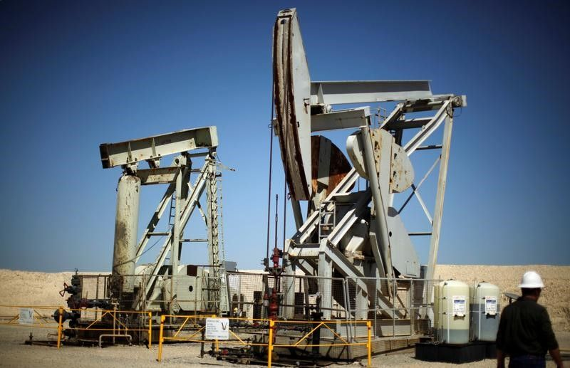 Pump jacks drill for oil in the Monterey Shale, California April 29, 2013. — Reuters pic