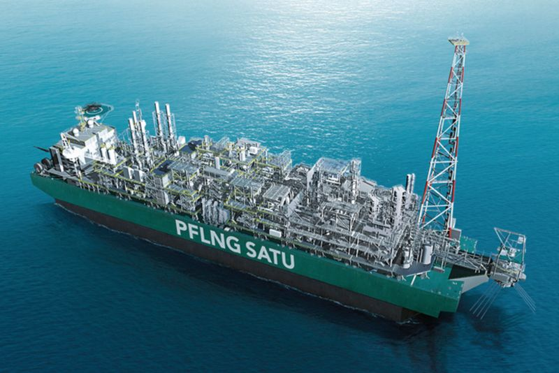 File photo of Petronas' PFLNG Satu. Petronas' Gas and New Energy Business executive vice president and chief executive officer Adnan Zainal Abidin said that the environmental footprint of a FLNG vessel is much lesser as compared with onshore facilities. — Picture courtesy of petronasofficial.com