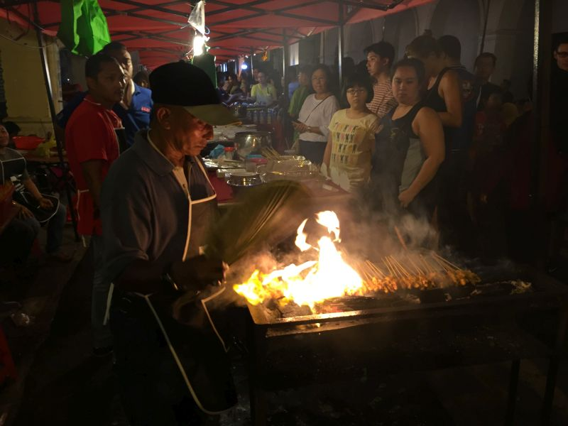 A man grills satay at the Penang International Food Festival in George Town April 15, 2017. ― Picture by KE Ooi
