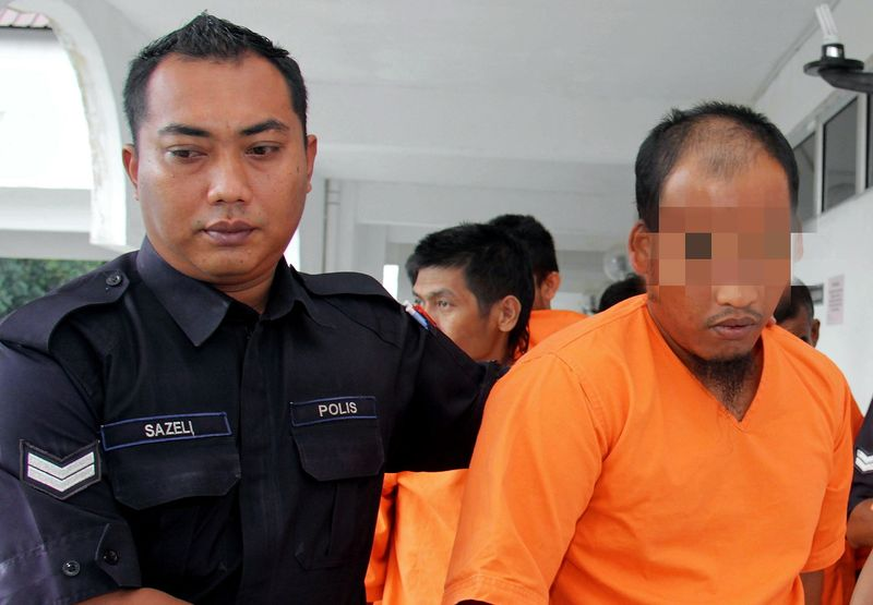 An assistant warden of the dormitory of a religious school was remanded for four days by the Kota Tinggi Sessions Court to facilitate investigations into a child abuse case involving a student, April 23, 2017. — Bernama pic
