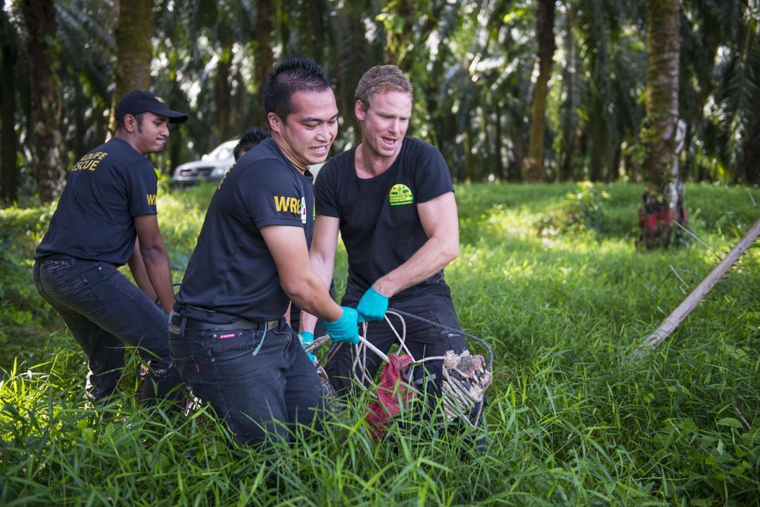 Ben Kotiu (centre) with Borneo Wildlife Warrior show host Aaron. — Picture courtesy of Scubazoo