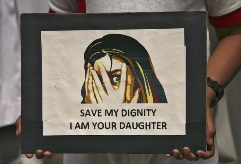 Women's rights groups are outraged bythe reported suggestion that rapists be allowed to marry their child victims. — Reuters file pic