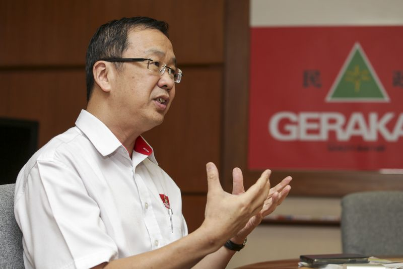 Gerakan vice president Datuk Dr Dominic Lau speaks to Malay Mail Online in an interview in Kuala Lumpur on March 30, 2017.