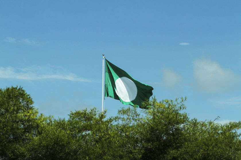 A PAS flag flies on a mast at the Kompleks PAS Kedah in Alor Setar April 27, 2017. — Picture by Yusof Mat Isa