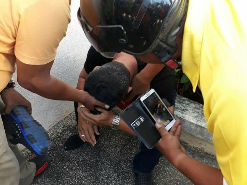 The suspect who was caught filming up a woman's skirt at the farmers' market in Alor Setar. — Photo courtesy of Facebook/DTTB