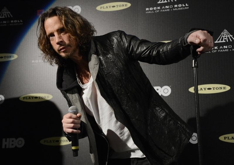 Chris Cornell at the 2013 Rock and Roll Hall of Fame induction ceremony in Los Angeles April 18, 2013. — Reuters pic