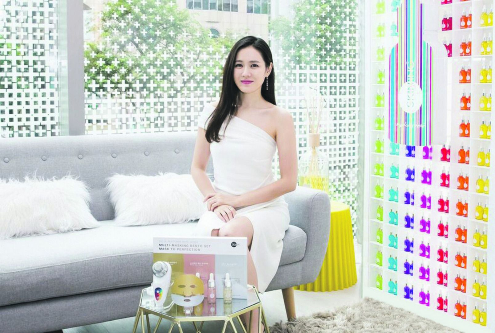 Son Ye-jin was in Singapore for the official launch of Skin Inc's latest product, Facial in A Flash from May 19 to 20. — Picture courtesy of Skin Inc via TODAY