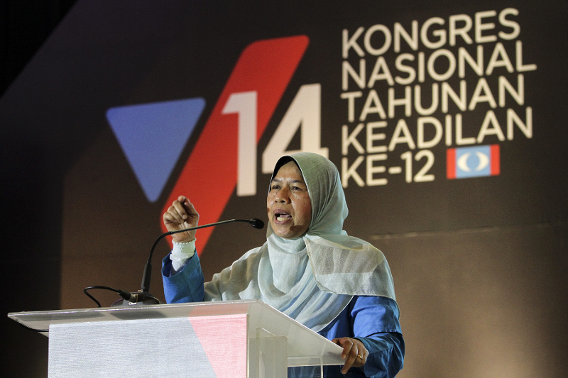 Wanita PKR chief Zuraida Kamaruddin says her party is focusing on Malay women in rural areas. — Picture by Yusof Mat Isa