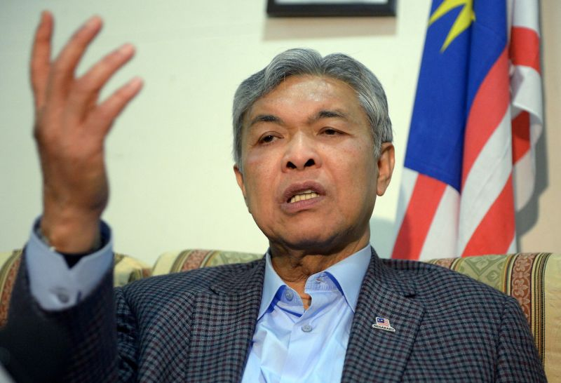 Datuk Seri Dr Ahmad Zahid Hamidi said several areas, including Selangor state seats, Perak and Penang, have been 'sacrificed' by Umno to component parties who did not yield results for BN. ― Bernama pic