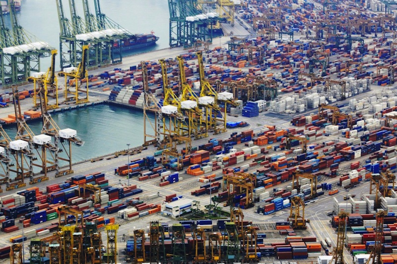 The 'giraffes', or quay cranes, at Tanjong Pagar Terminal are not in use as PSA is winding down its city terminals. — TODAY file pic