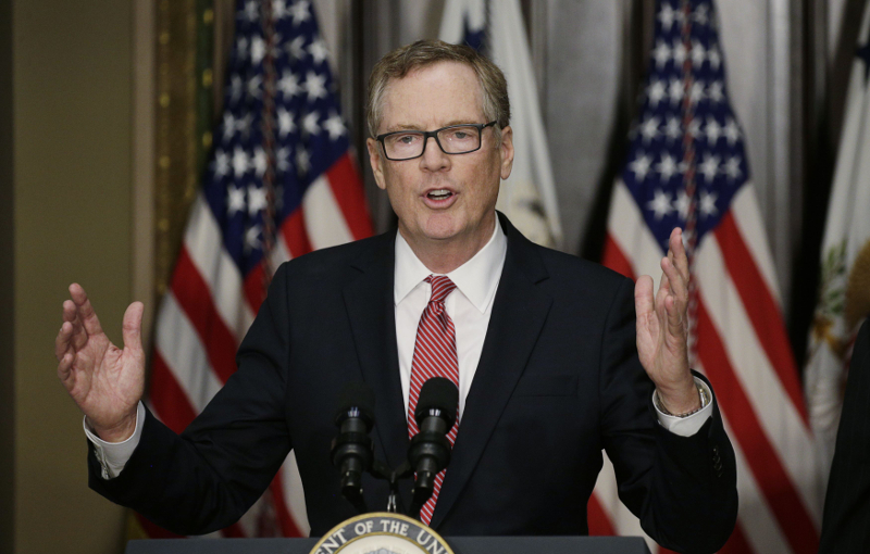 US Trade Representative Robert Lighthizer said the decision 'demonstrates the Trump Administration's commitment to robust monitoring and enforcement of our trade preference programmes'. — Reuters pic