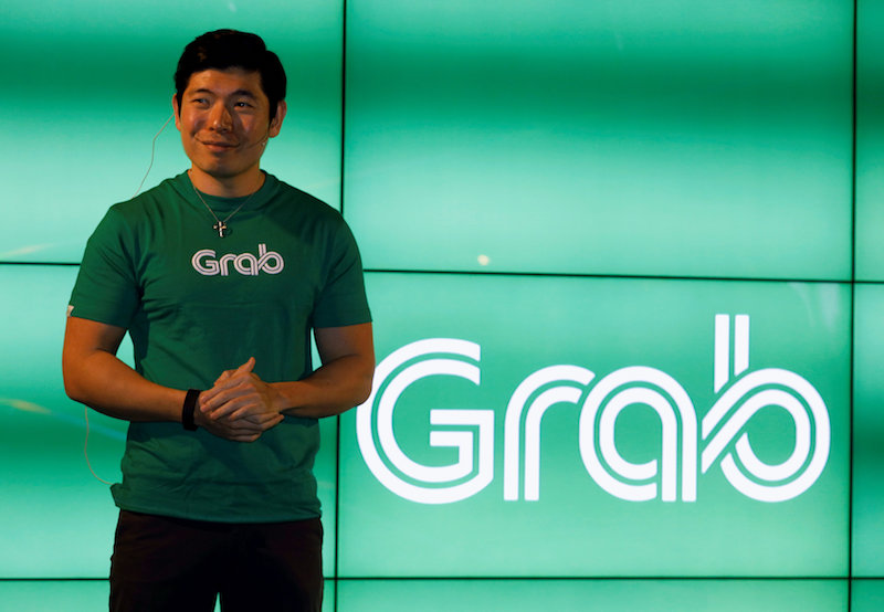 Grab CEO Anthony Tan speaks during Grab's fifth anniversary news conference in Singapore June 6, 2017. — Reuters pic